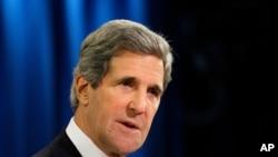2013年4月19日克里在国务院公布2012年人权报告时讲话