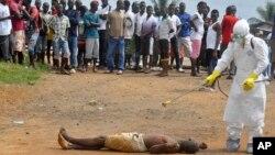 Uma vitima do Ébola na Libéria