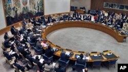 유엔 안보리 회의장. (자료사진)