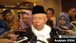 Ketua Umum Majelis Ulama Indonesia (MUI), Ma'ruf Amin. (Foto:VOA/Andylala)