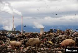 Otpad u blizini elektrane na ugalj blizu Bitolja u Makedoniji (arhivski snimak iz 2009.)