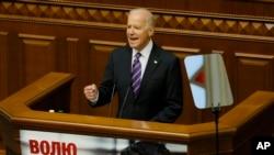8일 존 바이든 미국 부통령이 우크라이나 의회에서 연설했다.