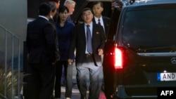 2019年10月3日朝鲜代表团成员到达斯德哥尔摩恢复与美国核谈判。
