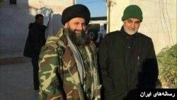 فرمانده سپاه قدس ایران (راست) در عراق حضور دارد.