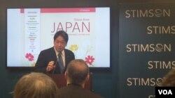 지난해 말까지 일본 방위상을 지낸 오노데라 이쓰노리 자민당 의원이 15일 워싱턴 스팀슨센터에서 강연했다.