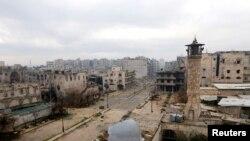 지난 1월 시리아 옛 알레포 시의 최전방 모습. (자료사진)
