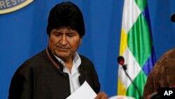 Evo Morales, predsednik Bolivije (Foto: AP/Juan Karita)