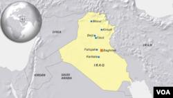 Bản đồ thành phố Fallujah ở Iraq.