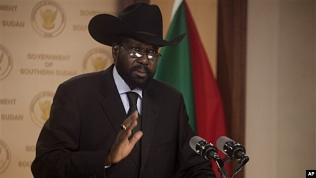 Salva Kiir Mayardit, the President of the government of southern Sudan, Feb 8, 2011 (file photo)