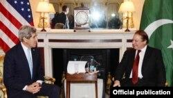 وزیراعظم نواز شریف کی امریکی وزریر خارجہ کیری سے ملاقات