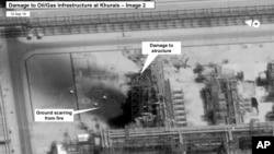 تصاویر ماهواره ای از خسارات ناشی از حمله به تاسیسات نفتی عربستان، که آمریکا منتشر کرد