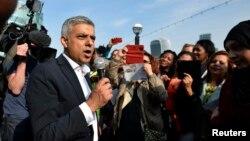 Новый мэр Лондона Садик Хан. Великобритания. 9 мая 2016 г.