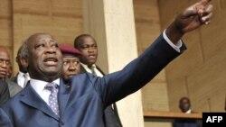 Laurent Gbagbo mokonzi ya kala ya Côte d'Ivoire, na Abidjan, 25 janvier 2011.