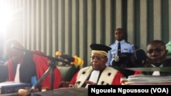 Le juge Christian Oba de la cour d'appel de Brazzaville, 7 mai 2018. (VOA/Ngouela Ngoussou)