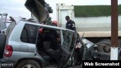 Avtomobil qəzası (Foto Report agentliyinindir)