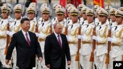 Владимир Путин и Си Цзиньпин, Китай, Пекин, 8 июня 2018