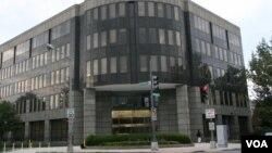 位于华盛顿特区西北区的驻美国台北经济文化代表处(美国之音锺辰芳拍摄)