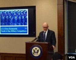 兰德公司在国会山举行简报会介绍美中军事力量对比研究报告。(美国之音杨晨拍摄)
