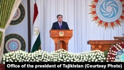 FILE - Tajikistan President Emomali Rahmon has been in power since 1992.