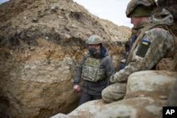 Ukrajinski predsjednik Volodimir Zelenski posjetio regiju Donbas, 8. april 2021