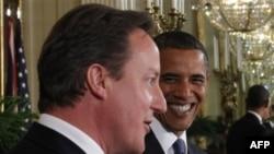 Прем'єр-міністр Великобританії Девід Камерон з президентом Бараком Обамою у Білому домі