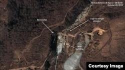 북한전문 웹사이트인 '38노스'가 2일 공개한 북한 풍계리 핵실험장 모습. 지난 10월부터 11월까지 촬영한 민간 위성사진을 판독한 결과를 담았다. 사진 제공 = 38노스-에어버스디펜스 앤드 스페이스.