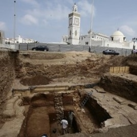 Archaeologists work at a dig at Martyrs' Square located in the low Casbah in Algiers' historical neighborhood (File Photo)
