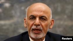 FILE - Afghan President Ashraf Ghani.