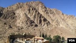 Dua wisatawan AS diculik setelah mengunjungi Biara St Catherine di Sinai, Mesir (3/2).