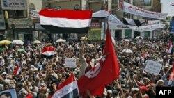 Demonstranti u glavnom gradu Jemena Sani traže ostavku predsednika Alija Abdule Saleha, Sana, 8. mart, 2011.