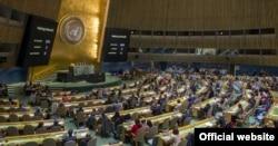 1일 미국 뉴욕 유엔본부에서 열린 유엔 총회에서 쿠바에 대한 경제봉쇄 해제를 촉구하는 결의안을 투표하고 있다.