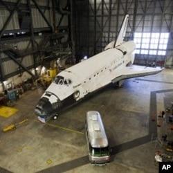 發現號4月5日在佛羅里達的肯尼迪太空中心