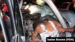 Vítima de acidente de viação, Malanje, Angola