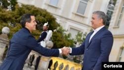 Guaidó no ha salido de Venezuela desde febrero de 2019, cuando desafió la prohibición de viajar impuestay viajó también a la vecina Colombiay otros países de la región.Foto: Cortesía - Presidencia Colombia.
