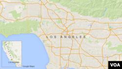 미 서부 로스앤젤레스 지도 (자료사진)