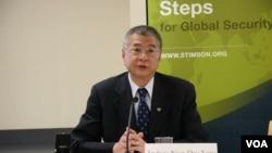 台湾国防部副部长杨念祖 (美国之音海彦拍摄)
