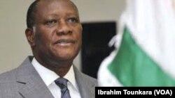 Alassane Ouattara en mai 2018. (VOA/Ibrahim Tounkara)