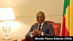 Le président du Bénin, Patrice Talon, à Cotonou, le 11 décembre 2017 (VOA/Ginette Fleure Adande)