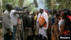 "The movie ""Covenant of the Ancestors"" is shot in the creeks of Sagbama near Yenagoa in the volatile Niger Delta region of Nigeria August 14, 2006."