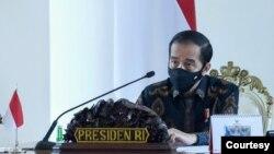 Dalam Rapat Terbatas di Istana Kepresidenan Bogor, Selasa (1/9) Presiden Jokowi Sebut Indonesia di Ambang Resesi (Setpres RI)