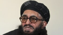 Former Taliban minister Maulvi Arsala Rahmani, a member of the High Peace Council, speaks during an interview in Kabul, Afghanistan, January 26, 2012.