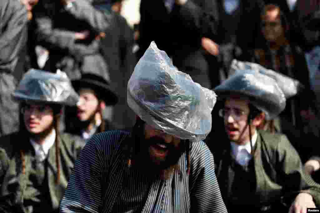 İsrail - İltra-ortodokslarla polis arasında qarşıdurma