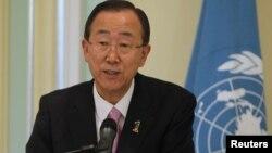 Ban Ki-moon, secrétaire général de l'ONU.