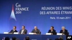 Líbia: Países do G8 não chegam ao acordo sobre a exclusão aérea e de intervenção militar