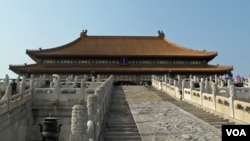 北京的紫禁城太和殿等著名景點每年吸引著越來越多的中國遊客。