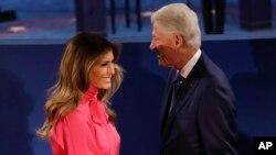 Мелания Трамп и Билл Клинтон
