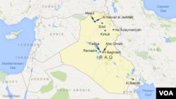 이라크 주요 도시들.