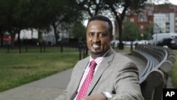 FILE - Aziz Deria, shown in Washington, D.C., is one of several victims who have pending lawsuits against former Somali prime minister Mohamed Ali Samantar.