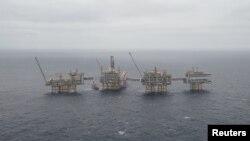 Видобувні платформи компанії Equinor у Норвезькому морі