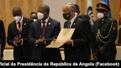 """Marcelo Rebelo de Sousa recebe """"Prémio José Aparecido de Oliveira"""", CPLP, Luanda, Angola"""